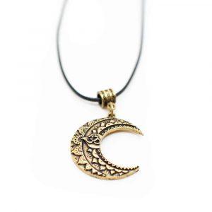 OM-Mond-Halskette tibetisch - Golden