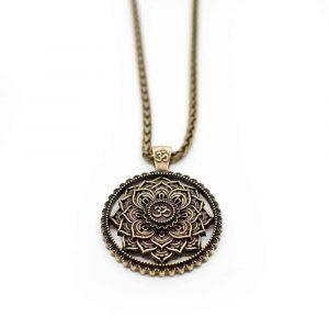 Tibetische Mandala OM-Halskette - Golden