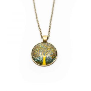 Lebensbaum Mandala-Halskette