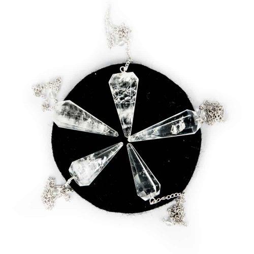 Pendel Edelstein Bergkristall Facette