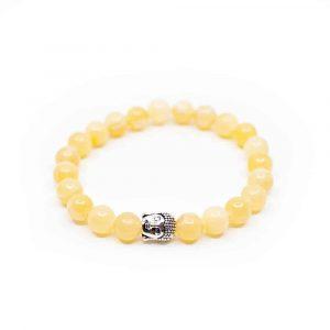 Edelstein Armband Calcit mit Buddha