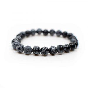 Edelstein Armband Schneeflocken Obsidian