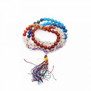 7 Chakra Edelsteine Mala - 108 Perlen