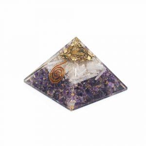 Orgonit-Pyramide Amethyst & Selenit (70 mm)