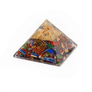 Orgon Pyramiden Chakra Mischung mit Bergkristall Punkt (70 mm)