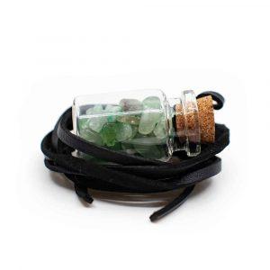 Geschenkflasche an Wachsband mit Aventurin