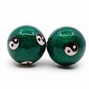Meridian-Kugeln Yin Yang Groß Grün