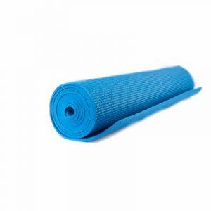 Yogi & Yogini PVC Yogamatte blau (185 x 63 x 0.5 cm)