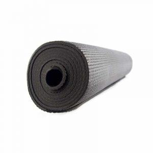 Yogi & Yogini PVC Yogamatte schwarz (185 x 63 x 0.5 cm)