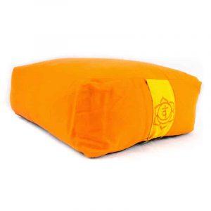 Meditationskissen/Bolster orange 2. Chakra (38 x 28 x 15 cm)