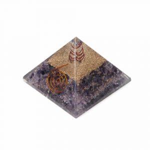 Orgonitpyramide - Amethyst mit Kristall - Groß