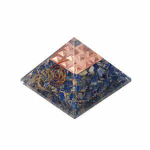 Orgonitpyramide Lapis Lazuli mit Kupferspirale
