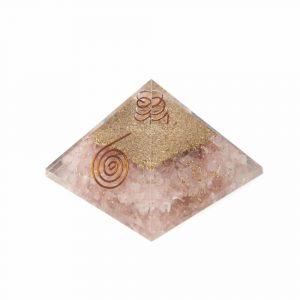 Orgonpyramide Rosenquarz Kupfer Spirale groß