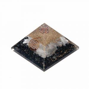 Orgonitpyramide Schwarzer Turmalin & Selenit - Groß