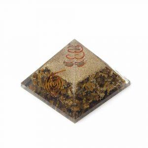 Orgon Pyramide Tigerauge Blume des Lebens groß