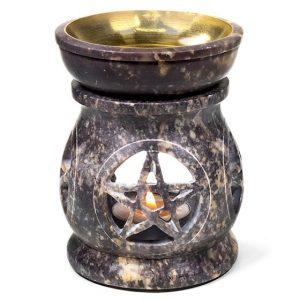 Duftlampe Pentagramm Speckstein
