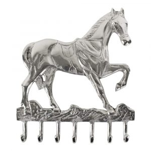 Aluminium Garderobe Pferd - (7 Haken)