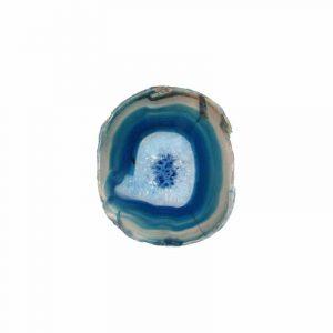 Blauer Achat Scheibe Medium (10 - 15 cm)
