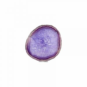 Violetter Achat Scheibe Medium (10 - 15 cm)
