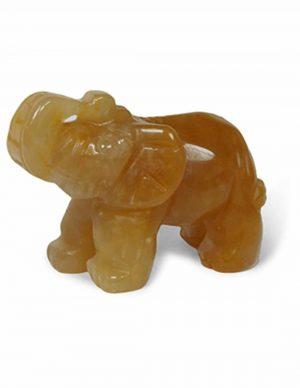 Elefant des Edelsteins Orange Aventurin