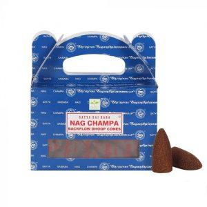 Satya Backflow-Räucherkegel Nag Champa (24 Kegel)