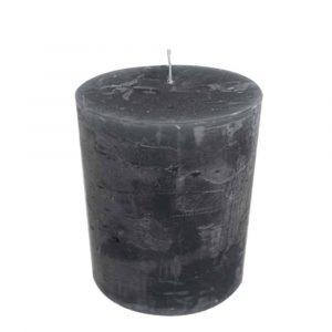 Stumpfenkerze Dunkel Grau (15 x 10 cm)