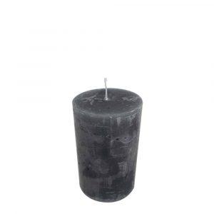 Stumpfenkerze Dunkel Grau (8 x 5 cm)