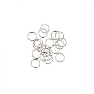 Silberfarbene Biegeringe - 5 x 0,7 mm (20 Stück)