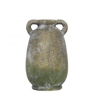 Krug Verwitterter Zement 2 Ohren Moosgrün (29 cm)