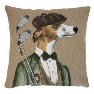Gobelin Kissen Golf Hund Herr (45 x 45 cm)
