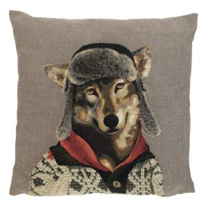 Gobelin Kissen Nordic Wolf (45 x 45 cm)