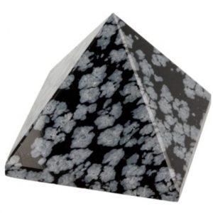 Obsidian Schneeflocken Pyramide (30 mm)