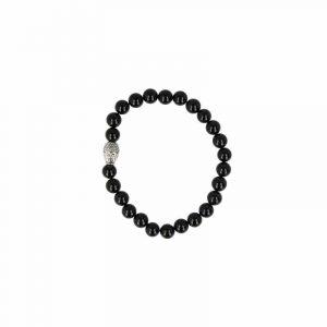 Perlenarmband Männer Onyx mit Buddha