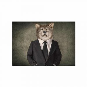 Fussmatte Herr Wolf (75 x 50 cm)