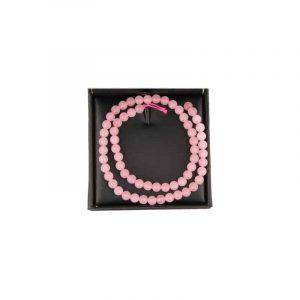 Edelstein Perlen-Strang Rosenquarz (6 mm)