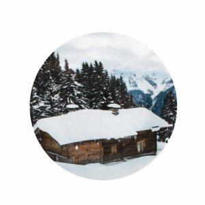 Porzellan Speiseteller Berghütte (27 cm)