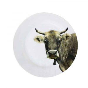 Porzellan Speiseteller Schweizer Kuh (27 cm)