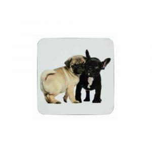 Untersetzer Welpen Mops und Französische Bulldogge (6er-Set)