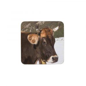 Untersetzer Winter Schweizer Kuh (6er-Satz)