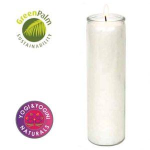 Kerze Stearin weiß duftneutral - Brenndauer 100 stunden