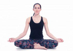 Yoga-Legging schwarz mit Mandala aufdruck Bio-Baumwolle L