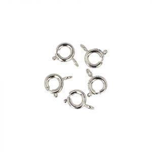 Silberne Federringverschlüsse - 6 mm (5 Stück)