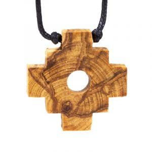 Palo Santo Halskette Chakana Inka Kreuz