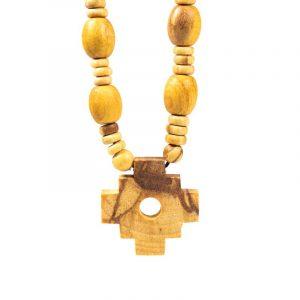 Palo Santo Schamanen Halskette mit Inka Kreuz