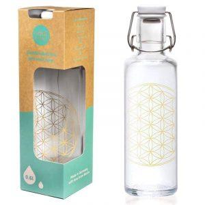 Trinkflasche - Soulbottle mit Blume des Lebens Design