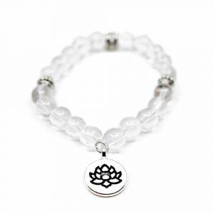 Edelsteine Armband Bergkristall mit Lotus