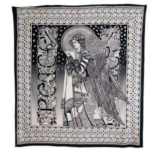 Authentisches Wandtuch Baumwolle Engel (240 x 210 cm)