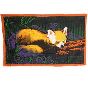 Authentisches Wandtuch Baumwolle mit Roter Panda (215 x 135 cm)