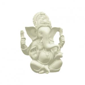 Ganesh Bild weiß - 12 cm