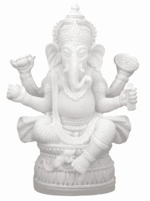 Ganesha Figur weiss - 17 cm